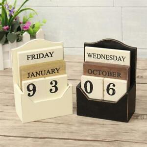1X-Wood-Desk-Calendar-Retro-Vintage-Wood-Block-Perpetual-Calendar-Wooden-En8K9