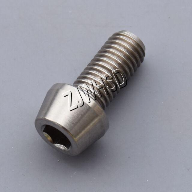 M7 x 15 Titanium Ti Screw Bolt Allen hex Taper Socket Cap head AerospaceGrade