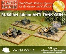 PLASTIC Soldier 1/72 Russian 45mm ANTI-TANK GUN x 4 # WW2G20001