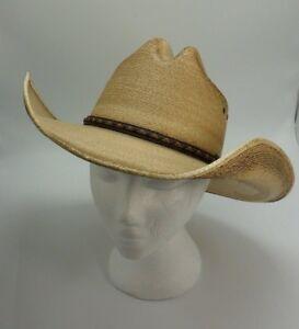 Image is loading Jason-Aldean-Amarillo-Sky-Palm-Leaf-Cowboy-Hat- 5dc79846dd3