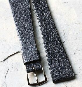 Open-ended-great-texture-vintage-watch-band-Genuine-Calfskin-19mm-click-on-type