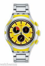 Swatch Men's Endless Energy Chronograph Yellow Dial Aluminium Watch YYS4002AG