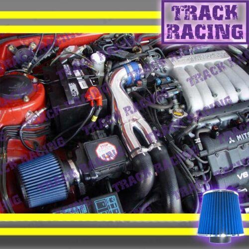 91 92 93-99 3000GT GTO DODGE STEALTH VR4 3.0L V6 TURBO Y AIR INTAKE KIT Blue
