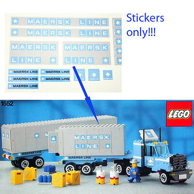 Custom Maersk Truck Trailer Stickers for LEGO 1552 10219 10155 1831 1552-1