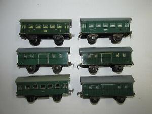 Convolute-6-Old-Karl-Bub-Sheet-Metal-Railroad-Passenger-Cars-Baggage-Scale-S