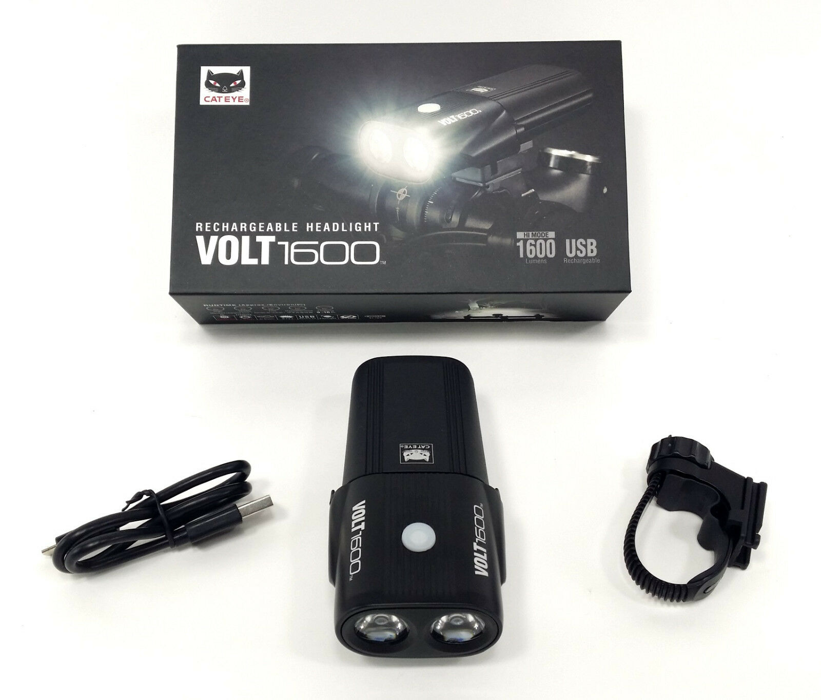 CatEye Volt 1600 Front Bicycle Bike Light Headlight USB Rechargeable