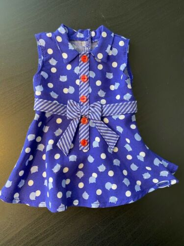 """for 18/"""" dolls NNPW NP retired American Girl Purr-fect Dots Dress"""