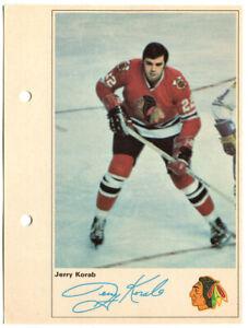 1971-72 Toronto Sun Jerry Korab Action Photo Chicago Black Hawks