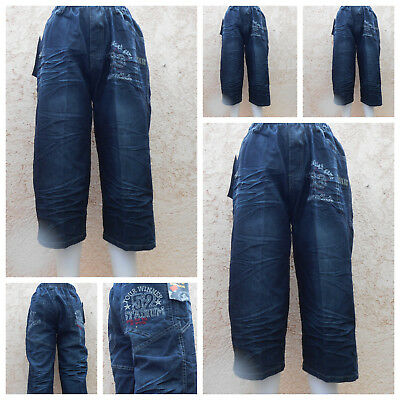 Jungen Kinder Bermuda Shorts Capri Strech Jeans Shorts Freizeit Hose