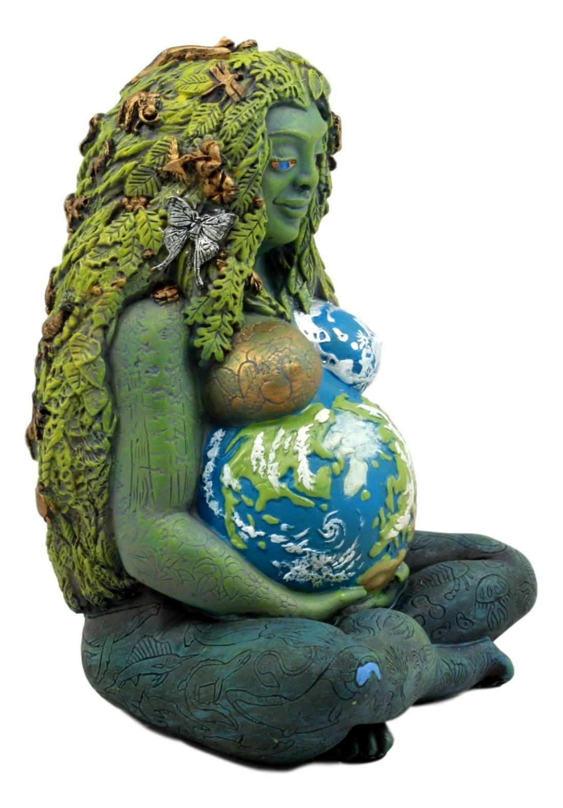 Goddess Figurine Sculpture Fertility Venus Gaia Deity Divine Feminine Mother Talisman Pagan Sacred Altar Meditation Resin