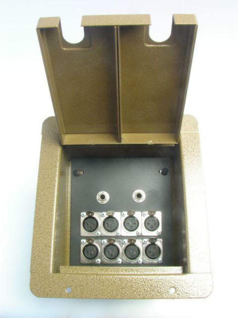 ProCraft Pro Audio Recessed Stage Floor Pocket Box 8 XLR Channel, 2 - 1 4 - BH