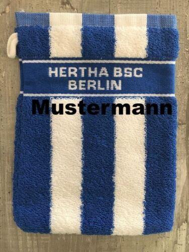 WASCH HANDTUCH WASCHLAPPEN WASCHHANDSCHUH HERTHA BSC BERLIN WUNSCHNAME