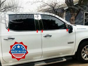 2019-2021-Chevy-Silverado-1500-Sierra-1500-Crew-Double-Cab-Pillar-Post-Trim-8Pc