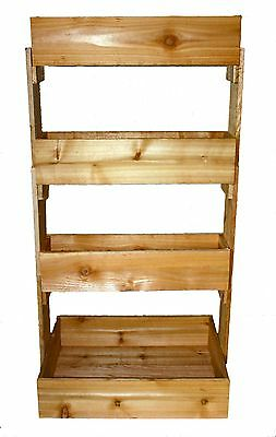 Cedar 4 Tier Vertical Raised Planter Bed ....New