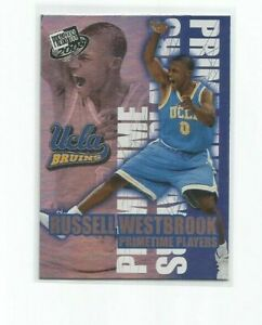 RUSSELL WESTBROOK (UCLA) 2008 PRESS PASS PRIMETIME PLAYERS PRE-ROOKIE INSERT #5
