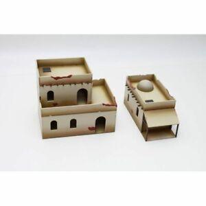 North-Africa-Building-Set-1-Bandua-Wargames-UnPainted-28mm-Brand-New-in-Box