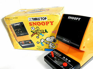Nintendo-Game-amp-Watch-Tabletop-Snoopy-SM-73-Boxed-Made-in-Japan-Box-is-damaged