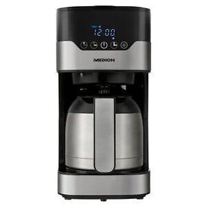 MEDION MD 18458 Kaffeemaschine Thermoskanne Timer 8 Tassen 900W 1,2L Edelstahl
