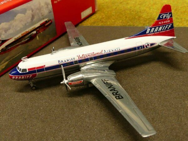 1 200 Herpa Braniff International Airways Convair cv-340 559621