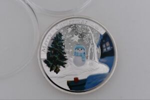 Christmas-Commemorative-Coin-Gifts-Challenge-Snowman-Gift-Souvenir-Silver-Coins