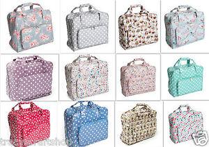 Details About Sewing Machine Bag Carry Case Matt Pvc 20x43x37cm Various Designs