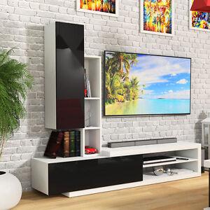 Moderne Wohnwand Creon 3 Moebel Hochglanz Wohnzimmer Set