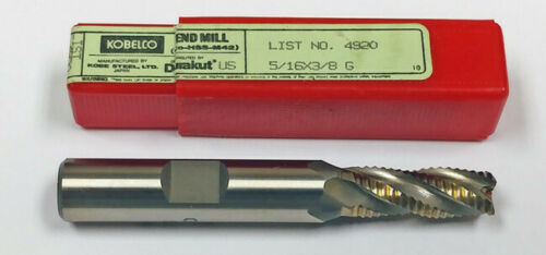 "5//16/"" 4-FLUTE CO ROUGHING CC END MILL 2-1//2/"" OAL 3//4/"" LOC KOBELCO 4920516"