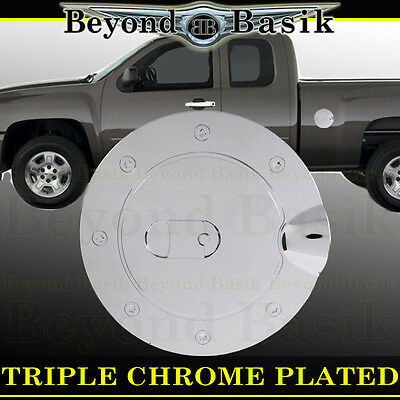 For Chevy Silverado 2500//3500 2007-2014 Chrome Gas Door Cover