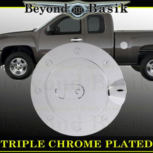 07-13 GMC SIERRA 1500 2500 3500 Triple ABS Chrome Gas Door Cover Fuel Cap trims