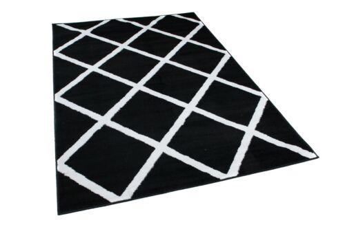 Teppich Kurzflor Modern Wohnzimmer Schlafzimmer Marokkanisch ÖKOTEX Kariert