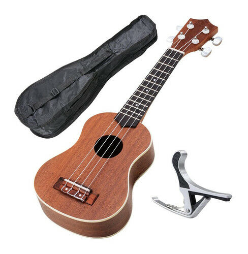 21 sapele acoustic soprano ukulele uke 15frets instrument hawaiian guitar for sale online ebay. Black Bedroom Furniture Sets. Home Design Ideas