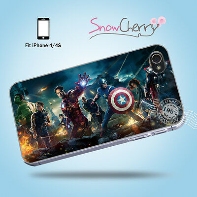 Exclusive iPhone 4 4S Case Cover Movie Collection The Avengers Heroes M4006