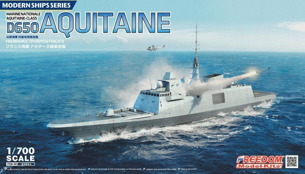 Freedom Model Kit 1 700 French D650 Aquitaine Frigate