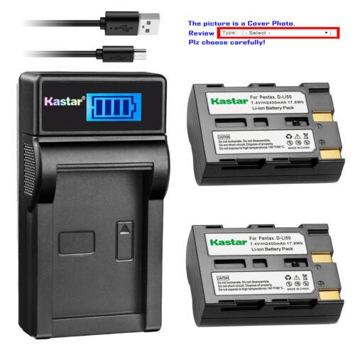 Kastar D-Li50 SLB-1637 Cargador De Batería Para Samsung GX-10 GX-20 Sigma SD1 Merrill