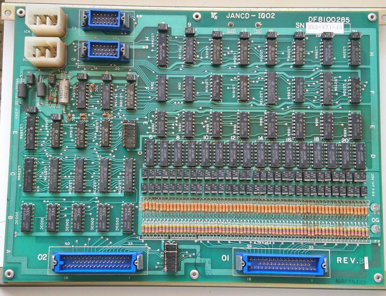 YASKAWA JANCD-I002 JANCD-IO02 JANCD-I0O2 JANCD-IOO2 DF8100285 REV.B MODULE