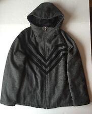 PRADA ITALY $2,380 Men's Insulated Blazer Jacket Hooded Wool Zip Coat~L/XL/50