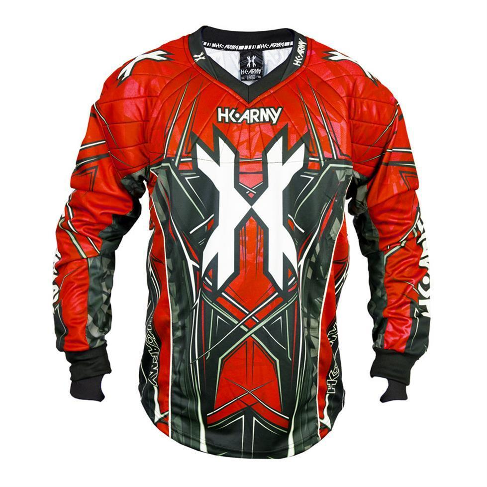 Nuovo  HK Army hstl linea Paintball JerseyRosso