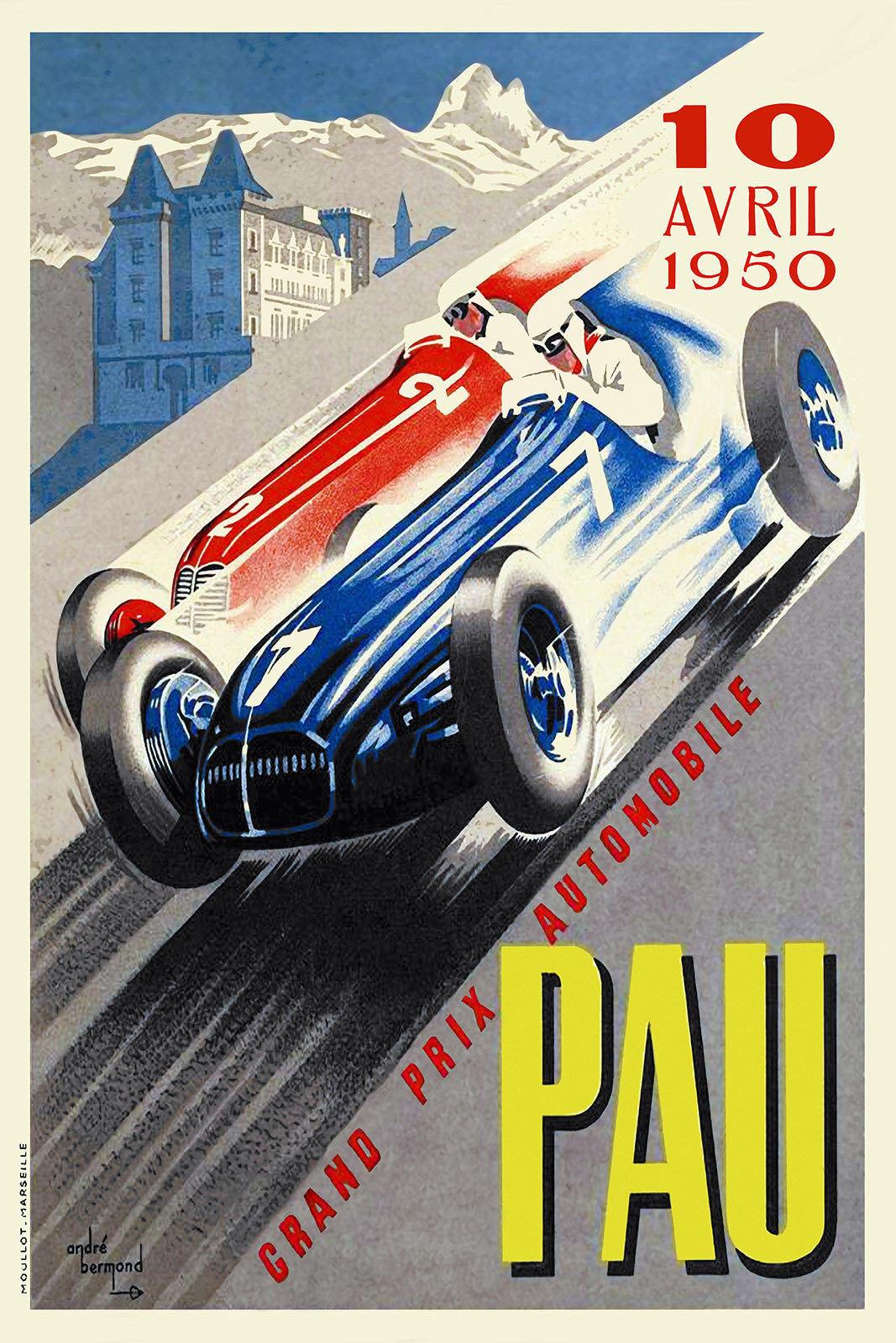 1959 European Grand Prix Reims Motor Racing Poster A3//A4 Print