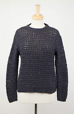 NWT BRUNELLO CUCINELLI Navy Blue Cashmere Blend Knit Sweater Size XL $3025