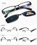 Polarized-Magnetic-Clip-on-Sunglasses-Eyeglass-Frames-Fishing-Glasses-Rx miniature 44