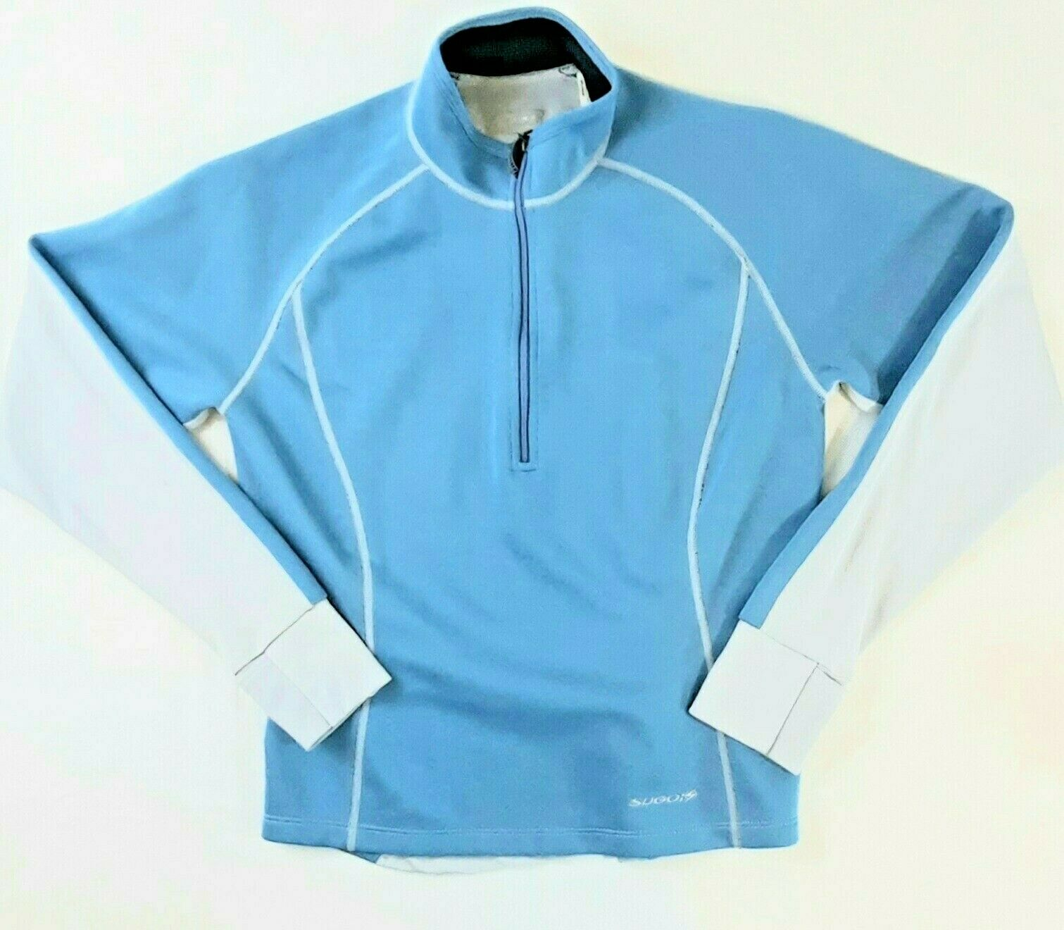Sugoi Women's Small Cycling Blue & Gray 1/2 Zip Semi-Fitted Pullover LS Shirt