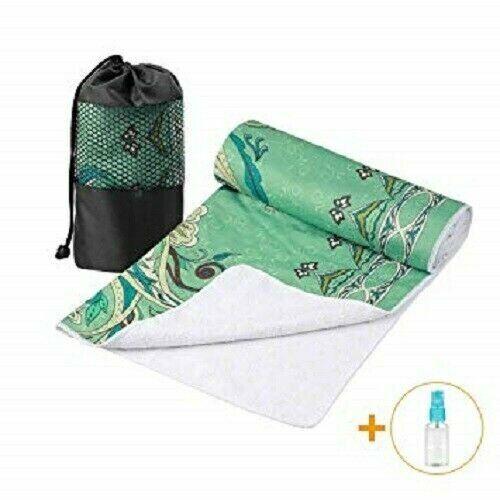 Aqui Legend Non-Slip Absorbent Waffle Texture Hot Yoga Pilates Towel Light Green