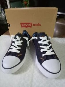 Denim Sneaker Size 13 Levi's Girls Stan G Dark Blue