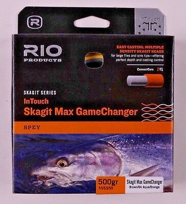 NEW RIO SKAGIT MAX GAMECHANGER 550-GR #8 WT F//I//S3//S5 SPEY ROD SHOOTING HEAD