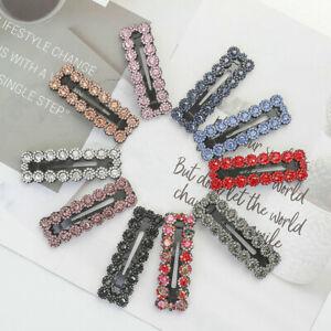 2PCS-Women-039-s-Crystal-Snap-Hair-Clip-Hairpin-Barrette-Slide-Hair-Pin-Accessories