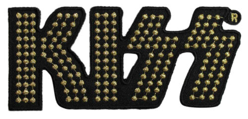 Music Band 141-X Kiss Gold Logo Embroidered Iron On Patch