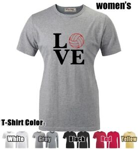 Love-Volleyball-Design-Graphic-Long-Short-Sleeves-Women-039-s-Girl-039-s-T-Shirt-Tee-Top