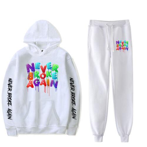 YoungBoy Never Broke Again Printed Hoodie Sweatshirt Pullover Pants Casual Set