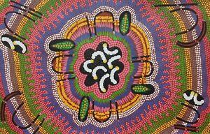 Aboriginal Art By Famous Artist Mary Naparulla 93cmx61cm Bush