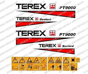 Terex-Benford-Pt9000-Calcomanias-de-dumper